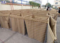 Army Hesco Bastion Barrier System Galvanized Welded Cages Sand Filled Barriers