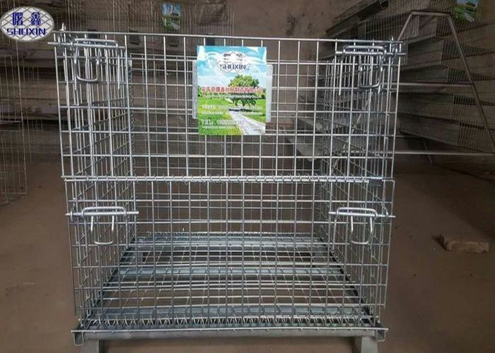 Industrial Welded Steel Wire Container Storage Cages