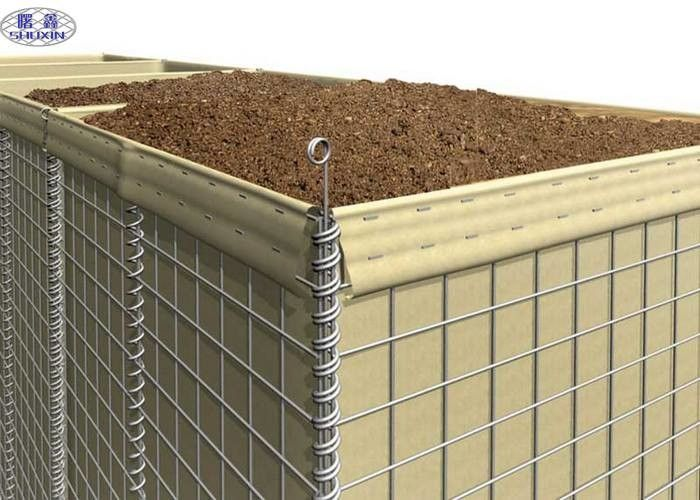 Protective Hesco Defensive Barriers Wall MIL 10 Sand Filled Barriers